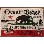 OB Surfing Bear Flag