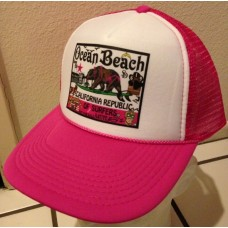 Trucker Hat - California Surfing Bear