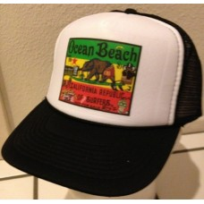 Trucker Hat - California Surfing Bear Reggae