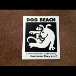 Dog Beach Sticker (pack of 5)